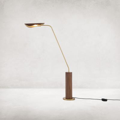 Four Hands Astrid Floor Lamp - Dark Brown Leather