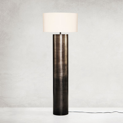 Four Hands Cameron Ombre Floor Lamp - Ombre Antique Pewter