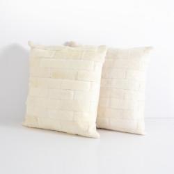 Four Hands Hardwin Hide Pillow, Cream, Set Of 2