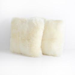 Four Hands Lalo Lambskin Pillow, Cream, Set Of 2