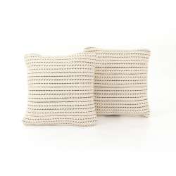 """Four Hands Ari Rope Weave Pillow, Set Of 2 - 20X20"""""""