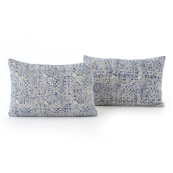 """Four Hands Faded Mosaic Print Pillow, Set Of 2 - 16X24"""""""