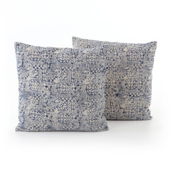 """Four Hands Faded Mosaic Print Pillow, Set Of 2 - 20X20"""""""