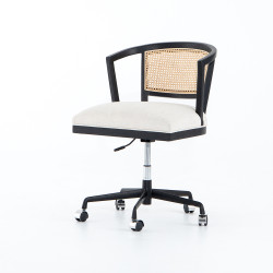 Four Hands Alexa Desk Chair - Brushed Ebony