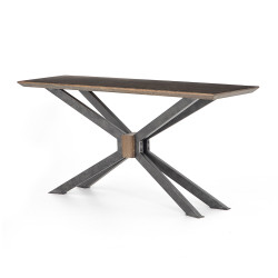 Four Hands Spider Console Table - English Brown
