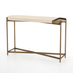 Four Hands Lyndall Console Table - Parchment White