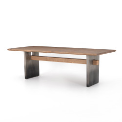 Four Hands Brennan Dining Table - Dove Oak