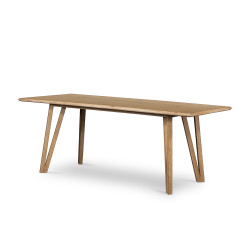 Four Hands Leah Dining Table - Whitewash On Oak