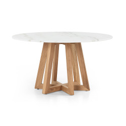 Four Hands Creston Dining Table - White Marble