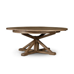 """Four Hands Cintra Extension Dining Table - 63"""" - Rustic Sundried Ash"""