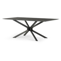 """Four Hands Spider Dining Table - 79"""" - Bluestone"""