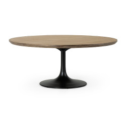 """Four Hands Powell Dining Table - 71"""" - Bright Brass Clad"""