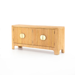 Four Hands Claire Sideboard - Honey Rattan