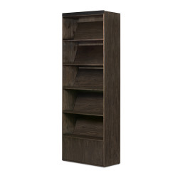Four Hands Bane Bookshelf - Dark Charcoal