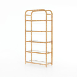 Four Hands Dory Bookshelf - Honey Rattan