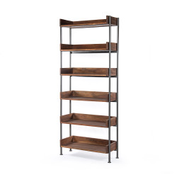 Four Hands River Bookshelf - Toasted Acacia