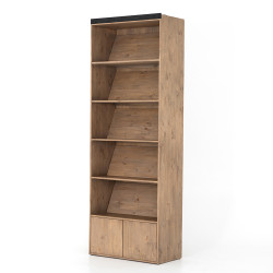 Four Hands Bane Bookshelf - Bookshelf - Smoked Pine