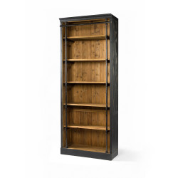 Four Hands Ivy Bookcase - Without Ladder - Matte Black