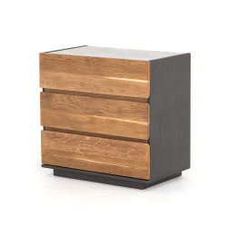 Four Hands Holland 3 Drawer Dresser - Dark Smoked Oak