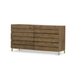 Four Hands Tiller 6 Drawer Dresser