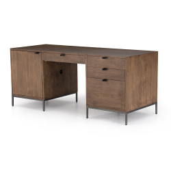 Four Hands Trey Executive Desk - Auburn Poplar