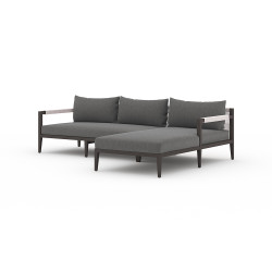 Four Hands Sherwood Outdoor 2 - Piece Sectional, Bronze - Right Arm Facing - Charcoal