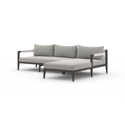Four Hands Sherwood Outdoor 2 - Piece Sectional, Bronze - Right Arm Facing - Faye Ash