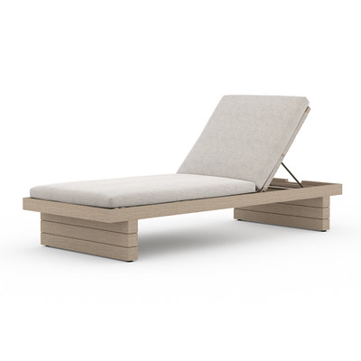 Four Hands Leroy Outdoor Chaise - Washed Brown - Stone Grey