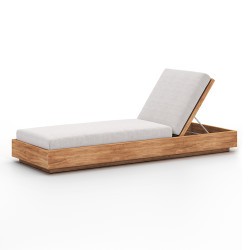 Four Hands Kinta Outdoor Chaise - Stone Grey