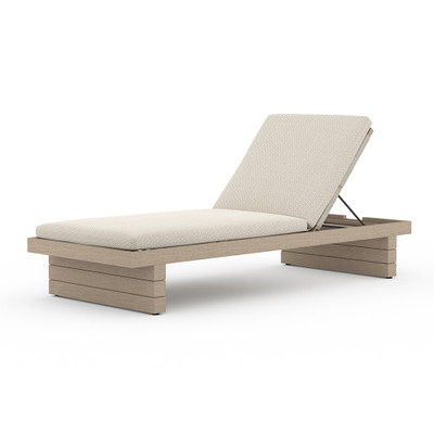 Four Hands Leroy Outdoor Chaise - Washed Brown - Faye Sand