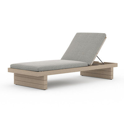 Four Hands Leroy Outdoor Chaise - Washed Brown - Faye Ash