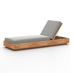 Four Hands Kinta Outdoor Chaise - Faye Ash
