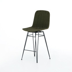 Four Hands Dema Outdoor Swivel Counter Stool - Olive