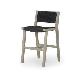 Four Hands Delano Outdoor Counter Stool - Weathered Grey