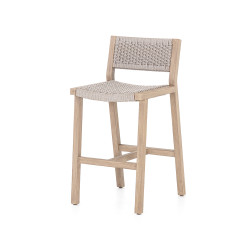 Four Hands Delano Outdoor Counter Stool - Washed Brown