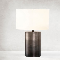 Four Hands Cameron Ombre Table Lamp - Ombre Antique Pewter