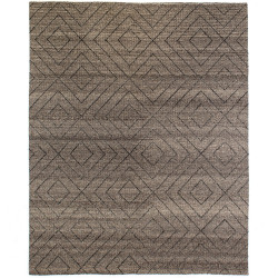 Four Hands Natural Diamond Patterned Wool Rug - 9'X12'