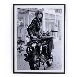 "Four Hands Françoise Hardy On Bike By Getty Images - 36""X48"""