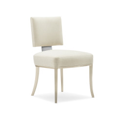 Caracole Reserved Seating Dining Chair - Brushed Chrome