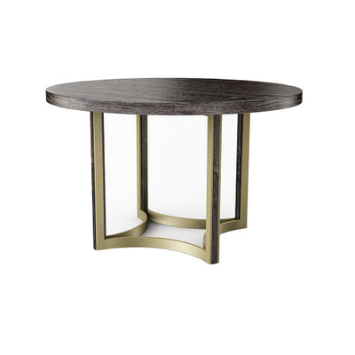 """Caracole Remix Cerused Round Dining Table 48"""""""