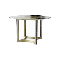 """Caracole Remix Glass Top Dining Table 48"""""""