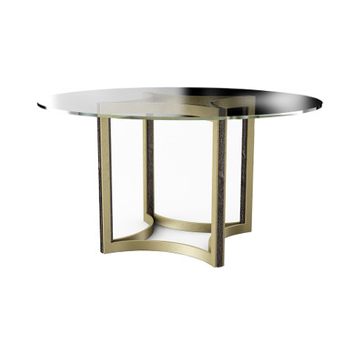 """Caracole Remix Glass Top Dining Table 54"""""""