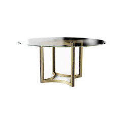 """Caracole Remix Glass Top Dining Table 60"""""""