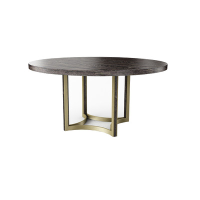 """Caracole Remix Cerused Dining Table 56"""""""