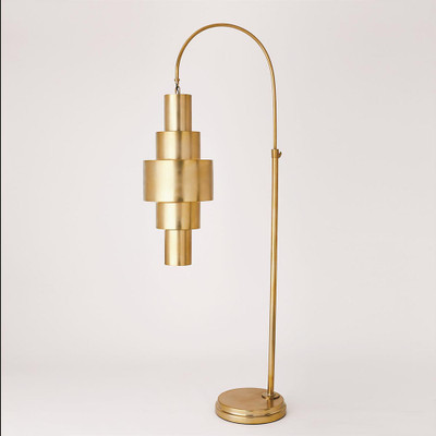 Babylon Floor Lamp - Antique Brass