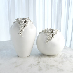 Cascading Reef Vase - White - Tall