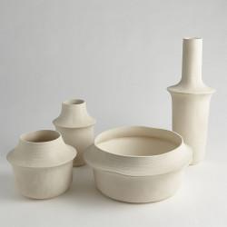 Fladis Vase - Matte Cream Marble - Low