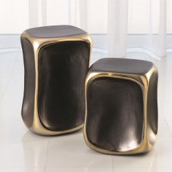 Formation Accent Table - Black/Gold - Lg