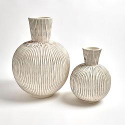Furrow Sphere Vase - Lg