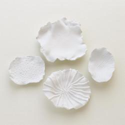 Maitake Wall Decor - Criss Cross - Soft White